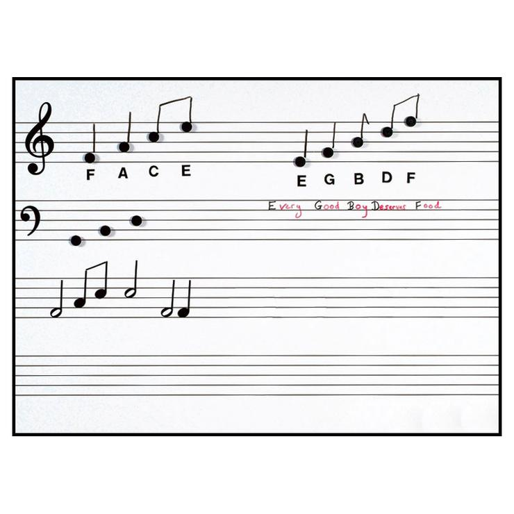 PS05 - Chamberlain Music Write n Wipe printed music stave wall poster and pen Default title