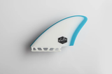 Dérives Twin Feather Fins Bleu/Blanc - Jouneka Surf Shop
