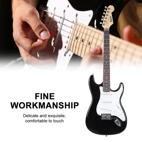 39in Wooden 6-String Electric Guitar Rosewood Fingerboard for Beginners