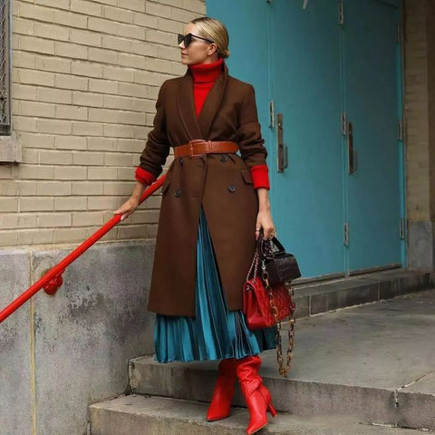 Coat match with belt