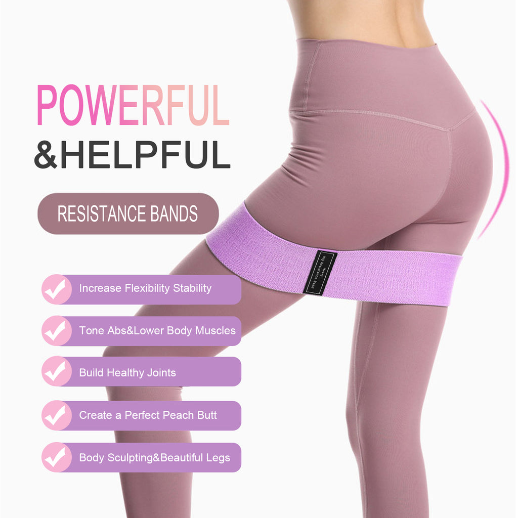JASGOOD Exercise Booty Bands-Resistance Bands for Women Butt and Legs Bands for Workout-Indoor/Outdoor Fitness Bands