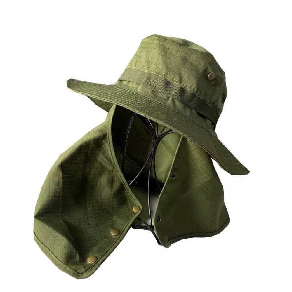 Fishing Hat Outdoor with Face Masks Outdoor Sun Protection Visor Caps