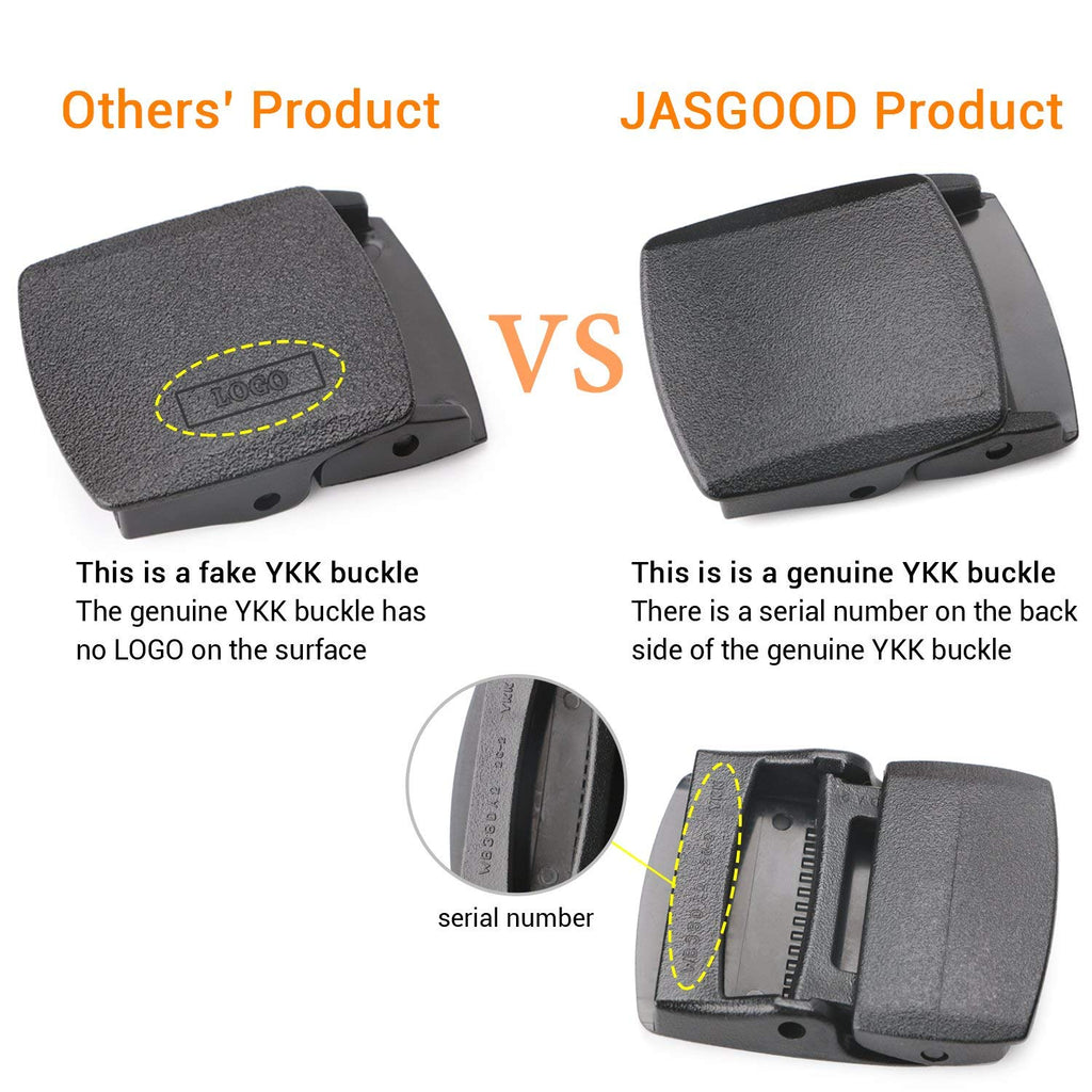 JASGOOD Travel Security Money Belt with Hidden Money Pocket - Cashsafe Anti-Theft  Unisex Nickel free Nylon Belt - JASGOOD-OFFICIAL