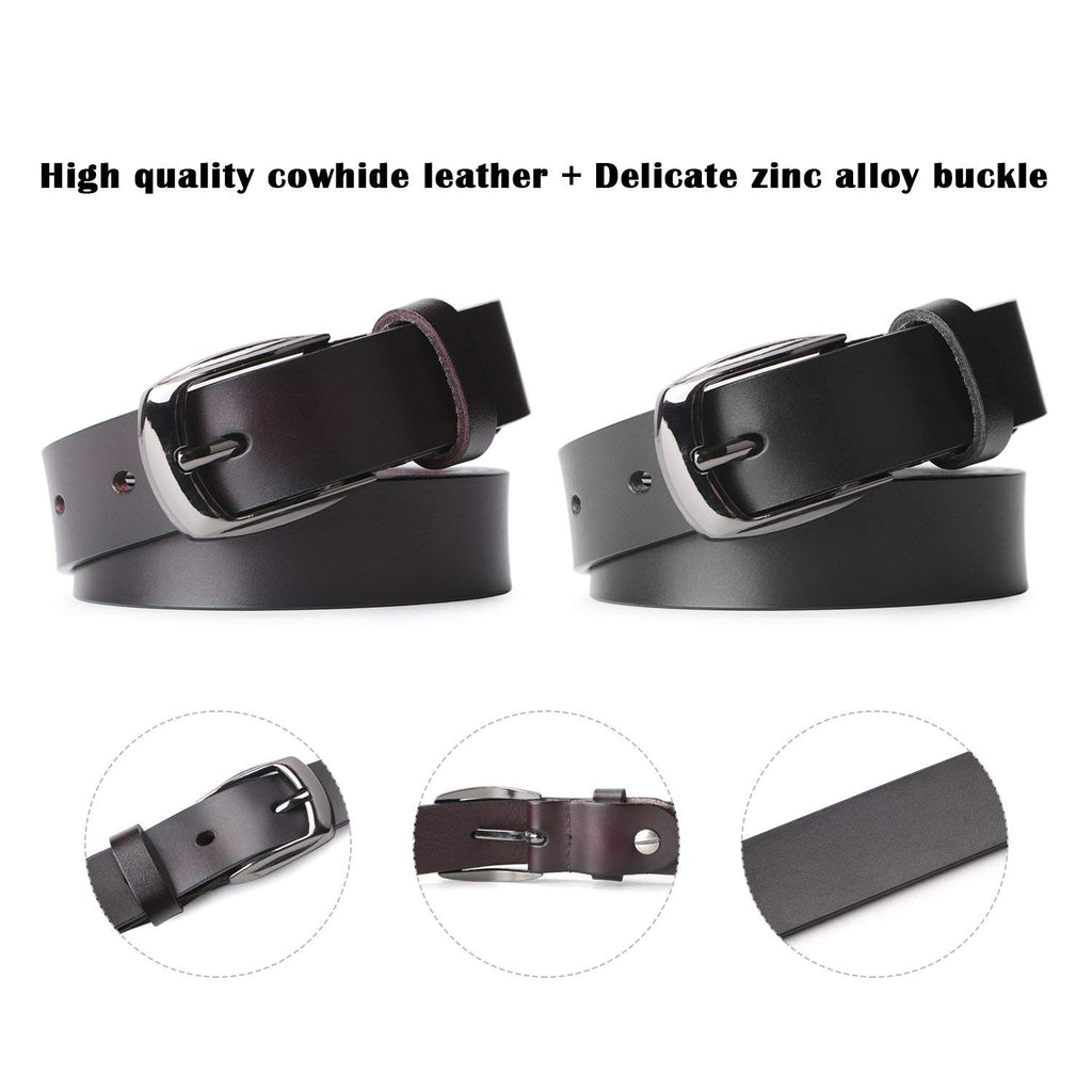 Skinny Jeans Leather Belt for Women Luxury Dress Belts With Classic Buckle by JASGOOD