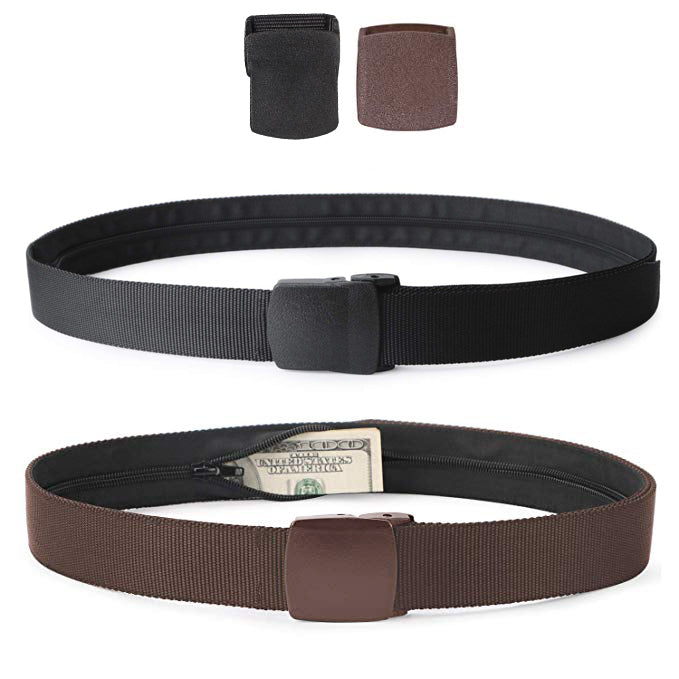 Nylon Military Tactical Men Belt 2 Pack Webbing Canvas Outdoor Web Belt with Plastic Buckle - JASGOOD-OFFICIAL
