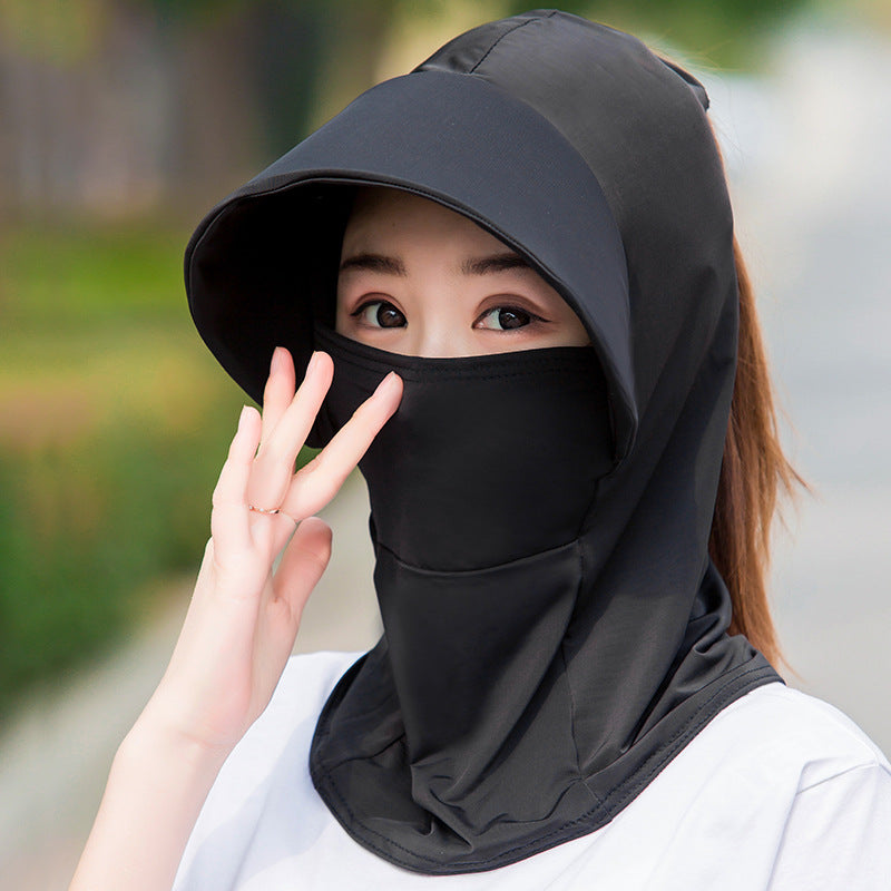 Women Sun Hats Face Cover with Neck Gaiter UV Protection Fishing Hat Detachable Beach Hiking Cap
