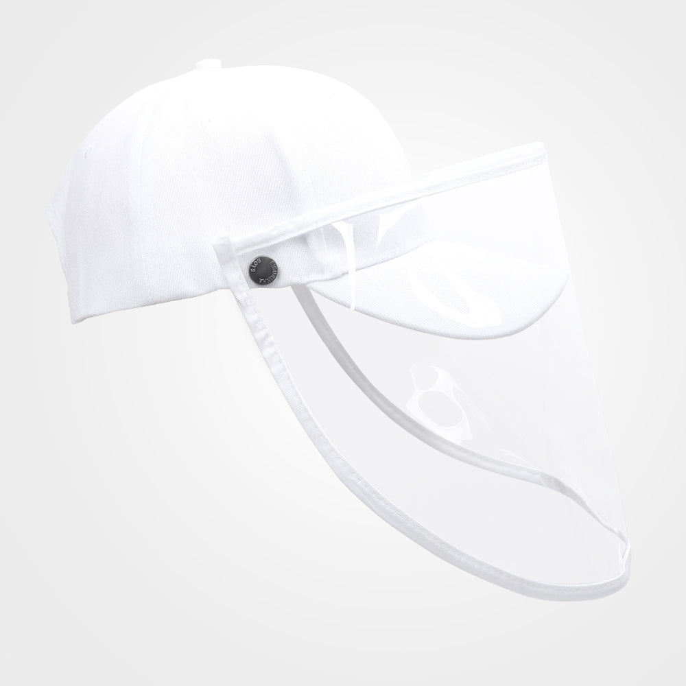 Safety Face Shield Visor Mask with Outdoor Removable Buckle Hat for Men Women