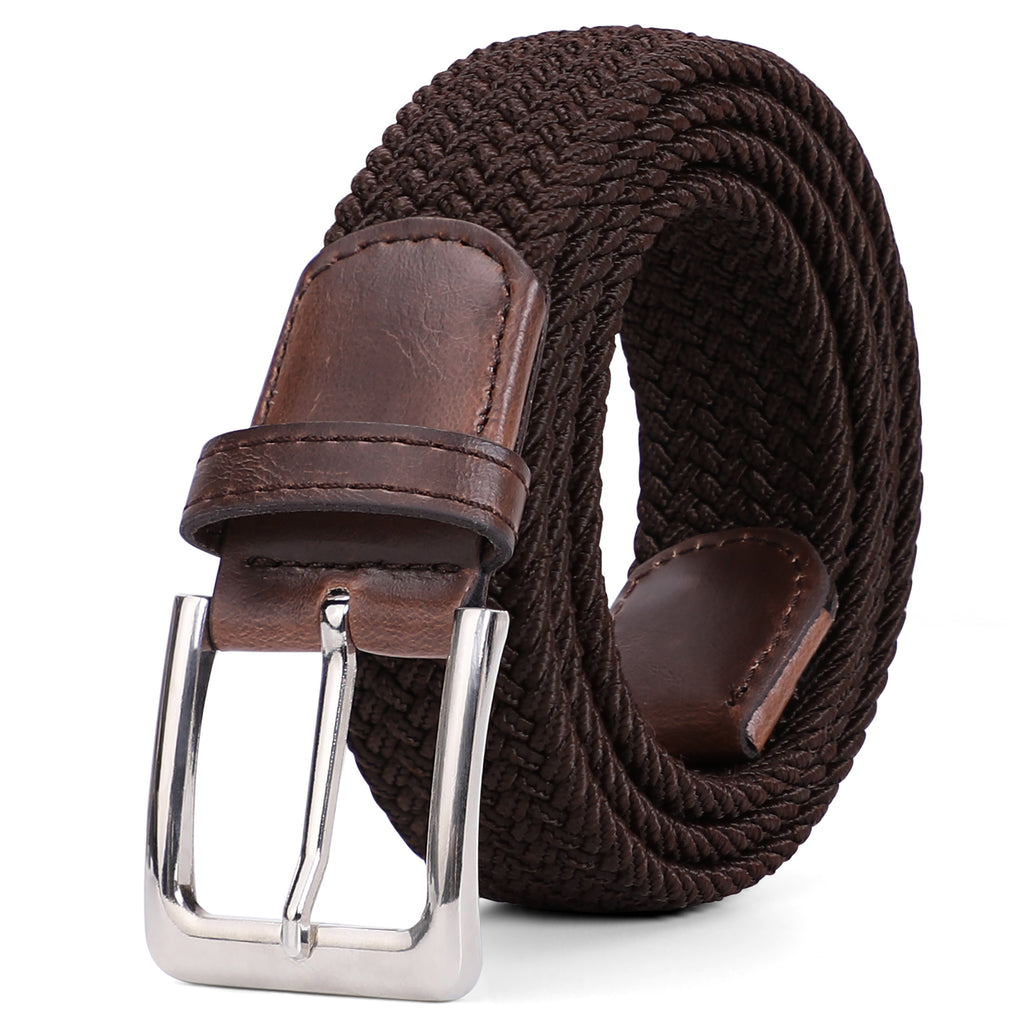 Braided Elastic Belt for Men Women Junior-Woven Canvas Stretch Belts by JASGOOD - JASGOOD-OFFICIAL