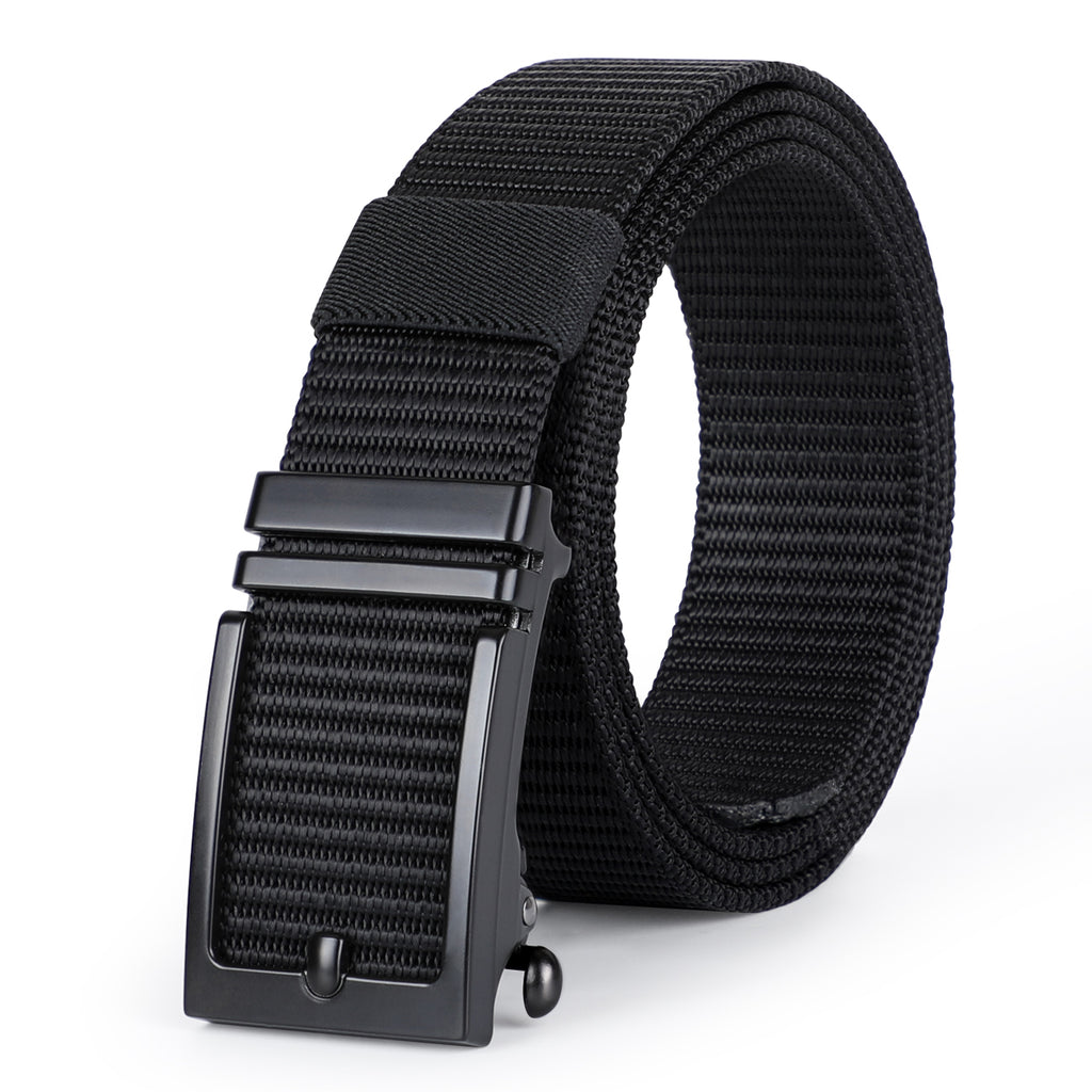 JASGOOD Nylon Belts with Automatic Buckle-Ratchet Belt-No Holes Web Belt for Men