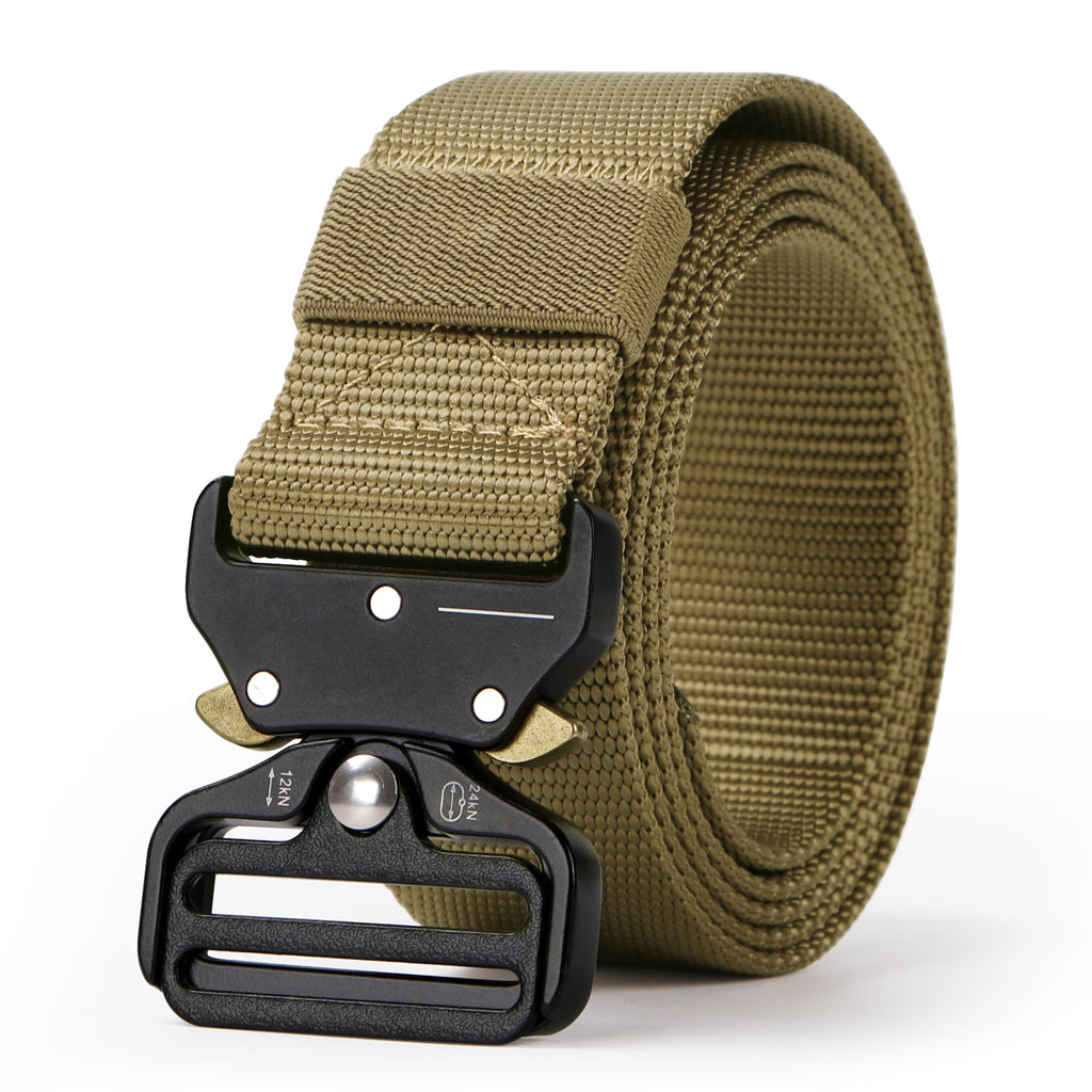 "Tactical Heavy Duty Belt Sansths Men Military Webbing Belt 1.5"" Quick-Release Riggers Web Belt with Metal Buckle"
