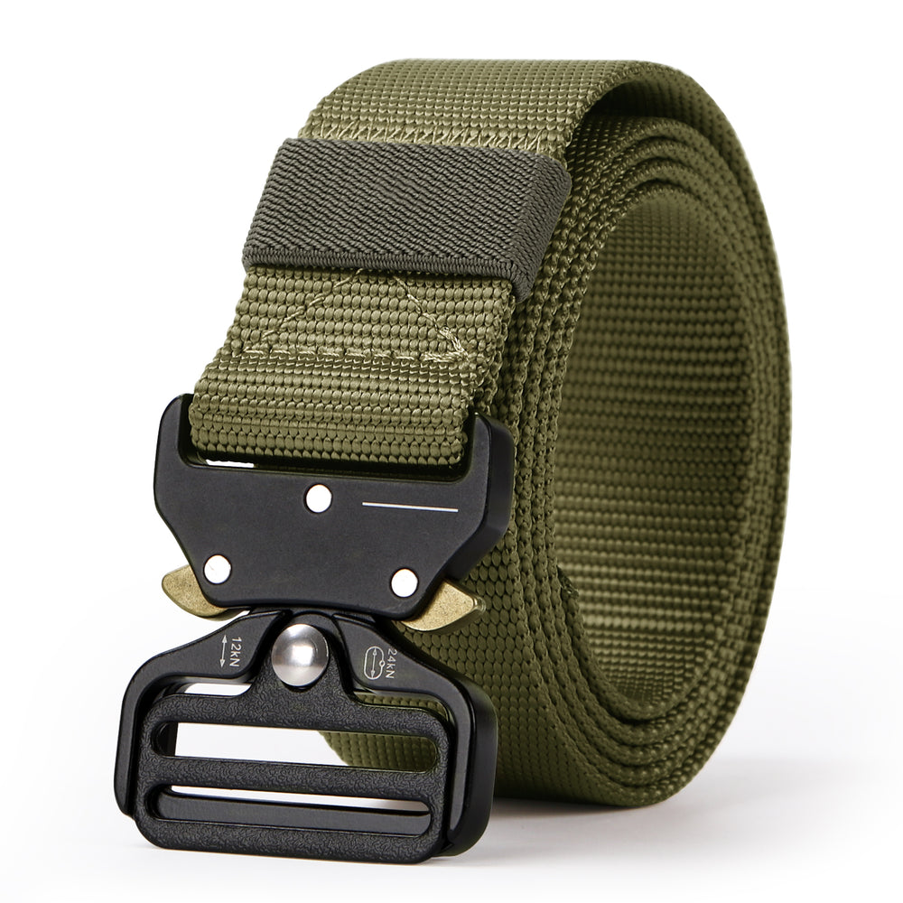 "Tactical Heavy Duty Belt Sansths Men Military Webbing Belt 1.5"" Quick-Release Riggers Web Belt with Metal Buckle - JASGOOD-OFFICIAL"