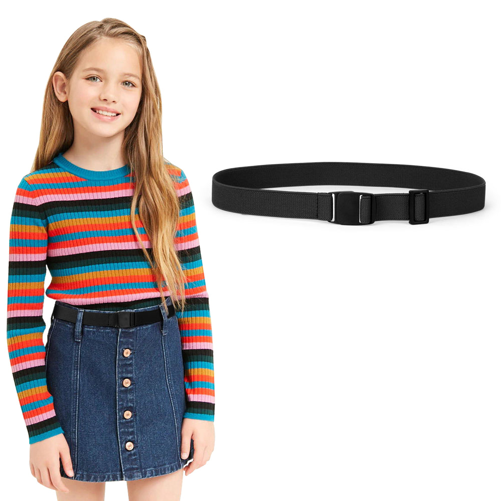 Kids Adjustable Elastic Belts for Pants Children Stretch Belts for Boys and Girls by JASGOOD