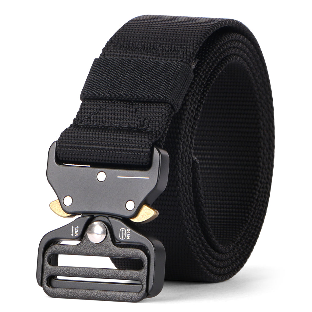 "Tactical Heavy Duty Belt Sansths Men Military Webbing Belt 1.5"" Quick-Release Riggers Web Belt with Metal Buckle - JASGOOD OFFICIAL"