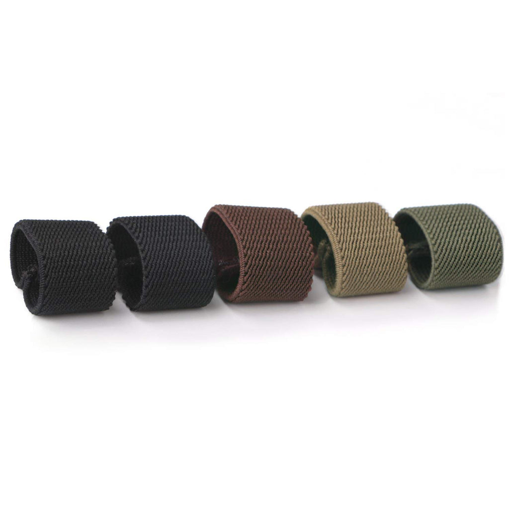 Nylon Canvas Web Belt Elastic Loop Keeper for 1.5inch Wide Belt(set of 5)  by JASGOOD