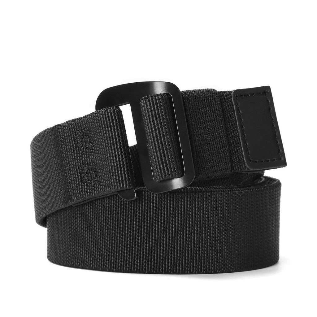 Men's Elastic Stretch Nylon web Jeans Belt Outdoor Casual Belt with Solid Adjustable Buckle By JASGOOD-JASGOOD OFFICIAL