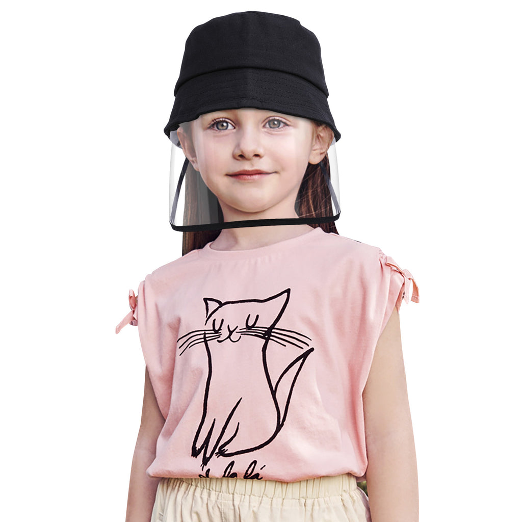Boys Girls Protective Fishing Hats Cover Anti-Spitting Anti-Saliva UV Protection Shield Hat Detachable
