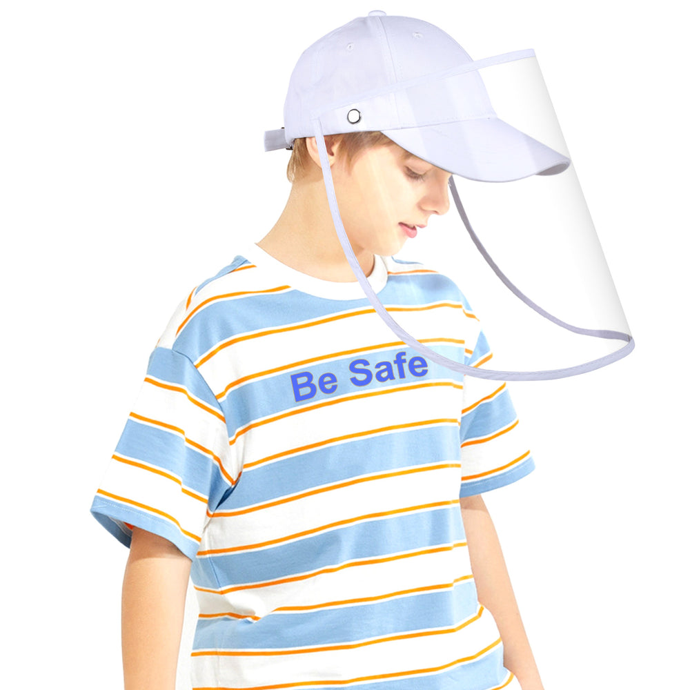 Protective Sport Hat with Full Face Shield  Safety Face Cover Windproof Dustproof Anti UV Sun Cap for Kids