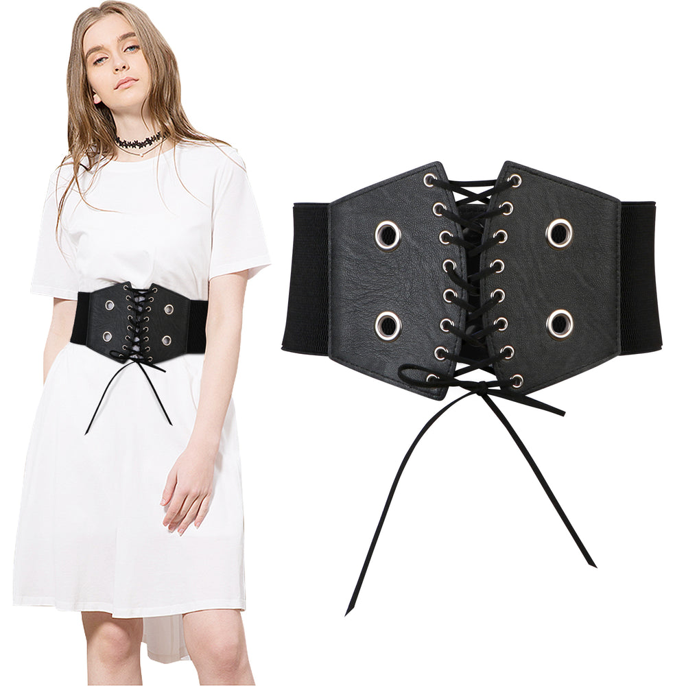 Lace-up Cinch Belt Gothic Steampunk Corset Elastic Waist Belt