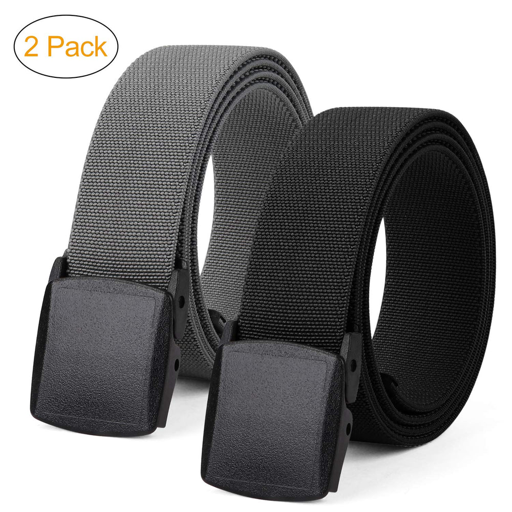 Men's Elastic Stretch Belt, JASGOOD Outdoor Plastic Belt with Removable Buckle Hiking Belt 38mm - JASGOOD-OFFICIAL
