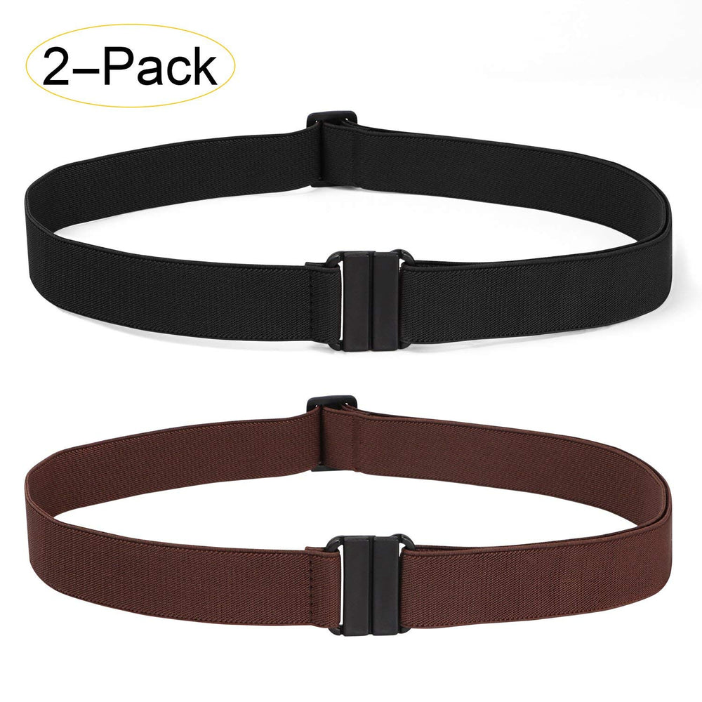 Copy of 2 Pack Invisible Women Stretch Belt No Show Elastic Web Strap Belt with Flat Buckle for Jeans Pants Dresses - JASGOOD-OFFICIAL