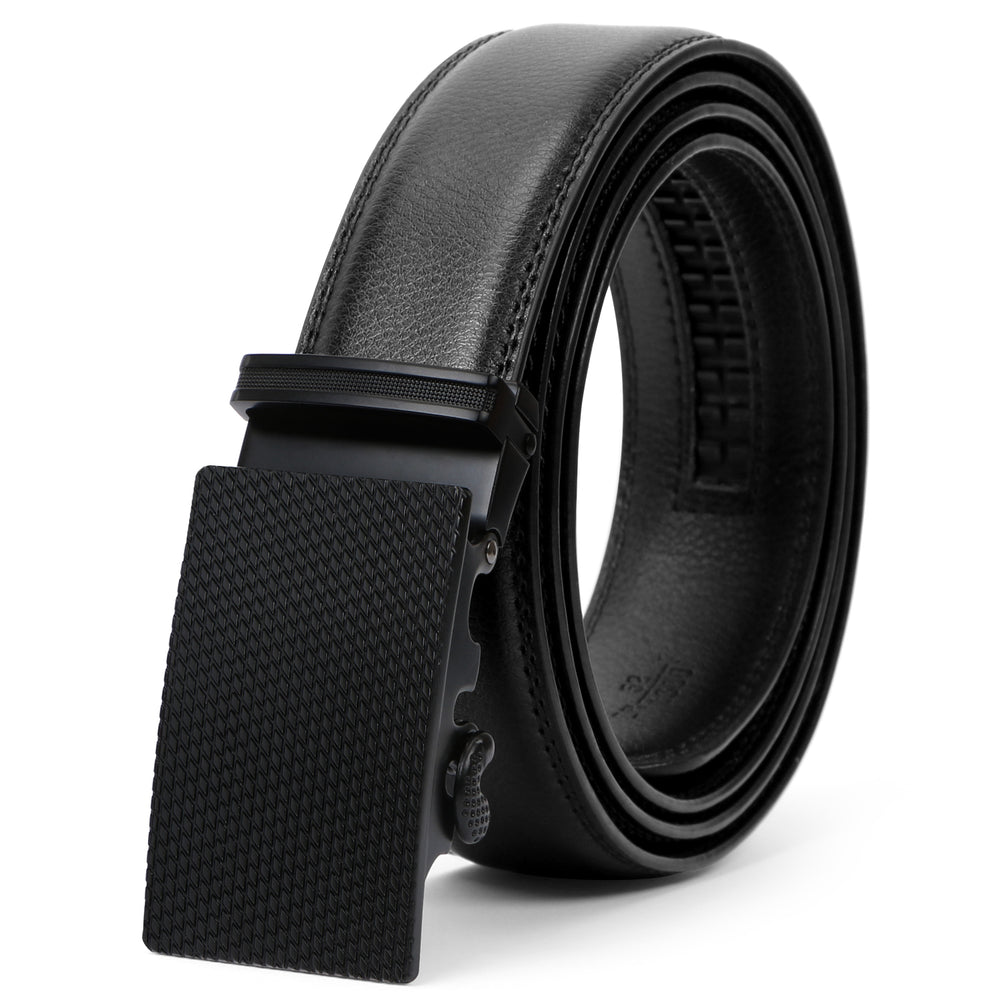 Men's Leather Ratchet Dress Belt with Automatic Buckle in Gift Box by WERFORU - JASGOOD-OFFICIAL