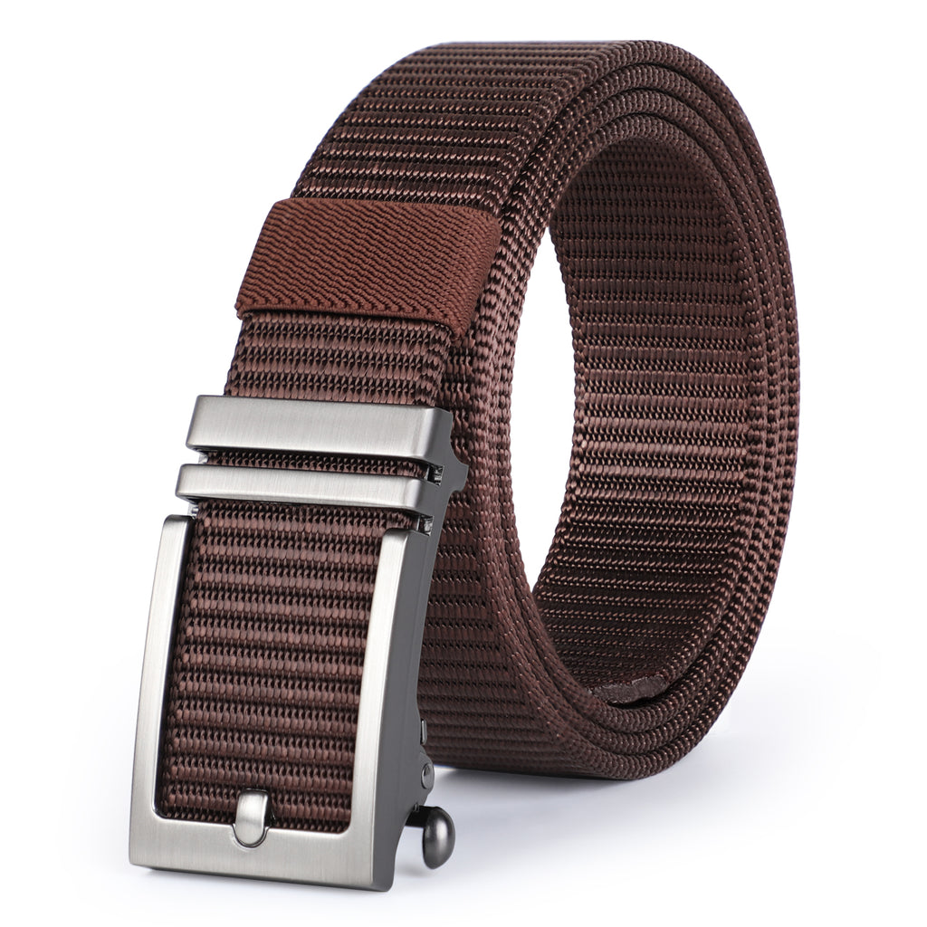 JASGOOD Nylon Belts with Automatic Buckle-Ratchet Belt-No Holes Web Belt for Men - JASGOOD-OFFICIAL
