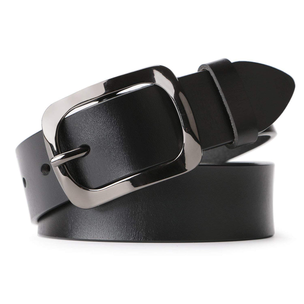 "WHIPPY New Arrival Jeans Belt for Women Leather Belt with Solid Pin Buckle Pants Size up to 44"" - JASGOOD-OFFICIAL"