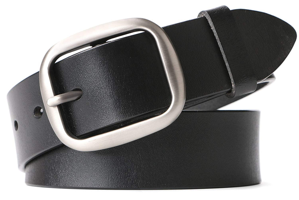 WHIPPY New Arrival Jeans Belt for Women Leather Belt with Solid Pin Buckle Pants Size up to 44""
