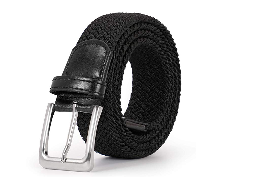 Braided Elastic Belt for Men Women Junior-Woven Canvas Stretch Belts by JASGOOD
