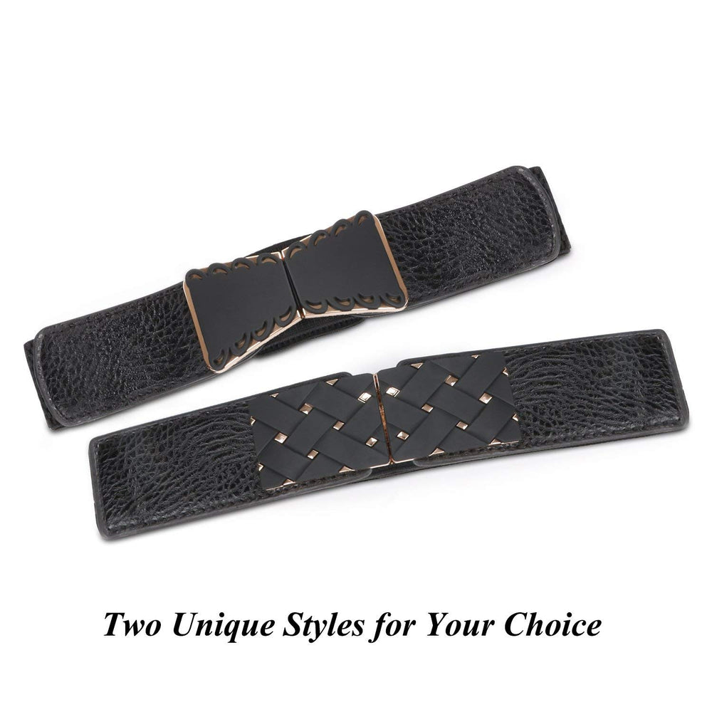 High Waist Elastic Stretchy Belt - JASGOOD 2018 New Design Mid Cinch Retro Dress Waist Belt For Women. - JASGOOD-OFFICIAL