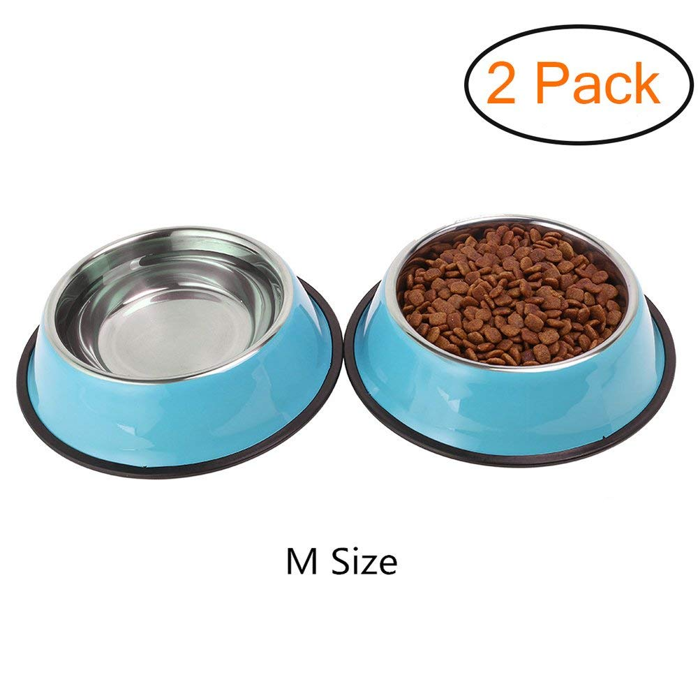 Whippy Stainless Steel Dog Bowl For Small/Medium/Large Pets (set of 2 - JASGOOD-OFFICIAL