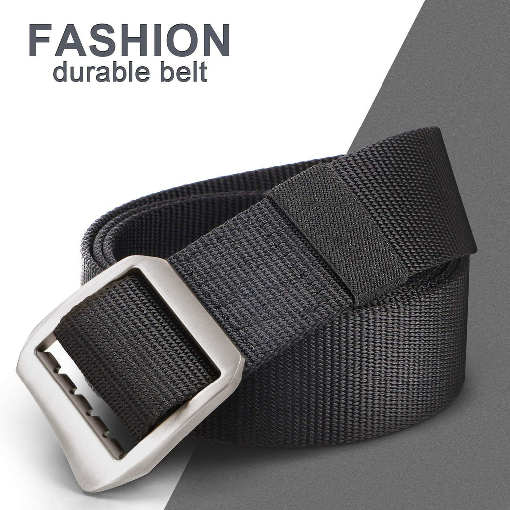 Survival Military Canvas Nylon Belts For Men Tactical Outdoor Belt with Metal Buckle by JASGOOD