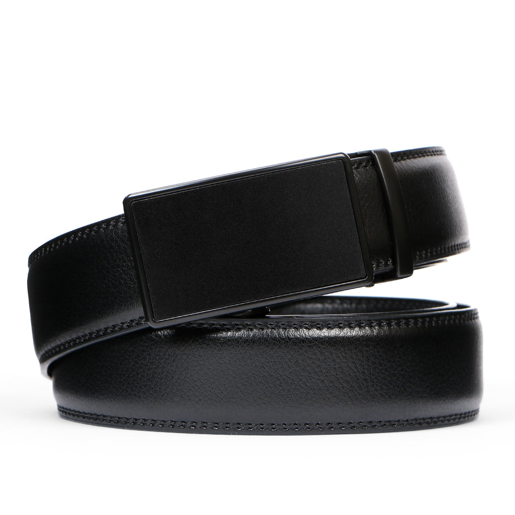 Men's Leather Ratchet Dress Belt with Automatic Buckle in Gift Box by JASGOOD - JASGOOD-OFFICIAL