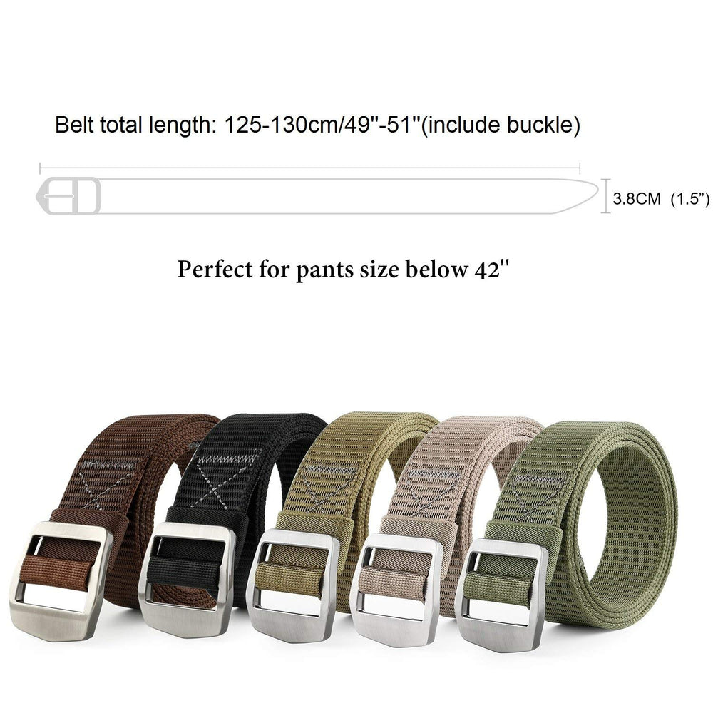 Tactical Heavy Duty Reinforced Nylon Belt for Men Adjustable Military Webbing Belt Strap with Metal Buckle by JASGOOD - JASGOOD-OFFICIAL