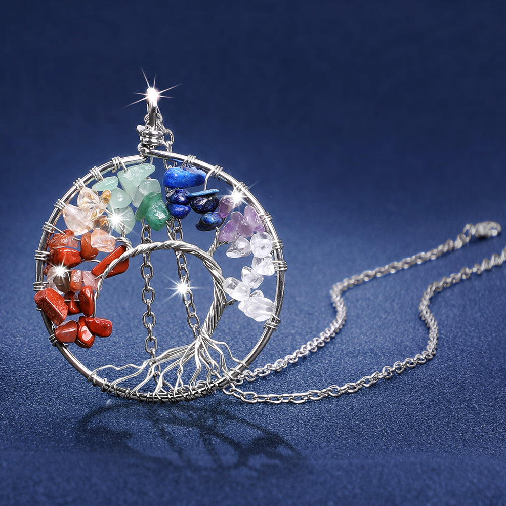 Tree of Life Necklace with Copper/Silver Chain