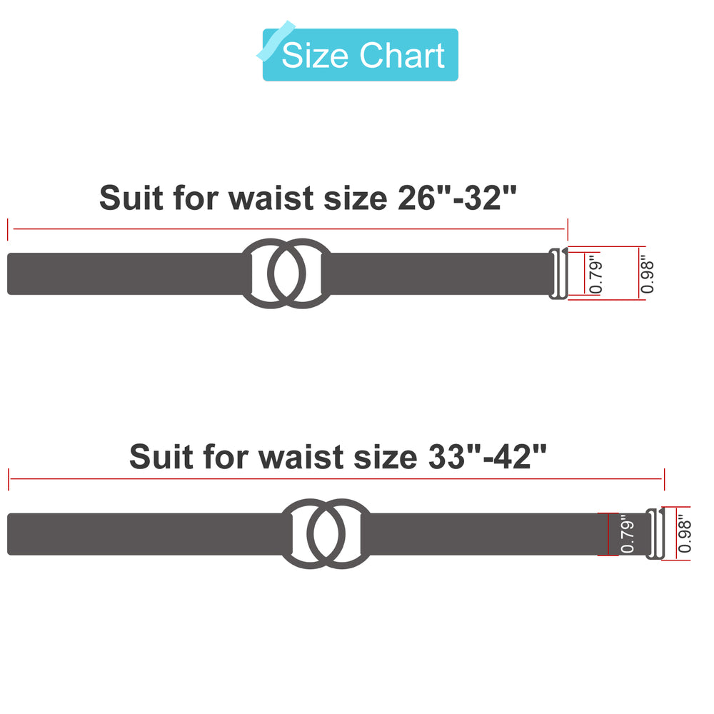 WERFORU Women Stretch Belt for Dresses, Elastic Web Waist Belt with Double O-Ring Buckle - JASGOOD-OFFICIAL