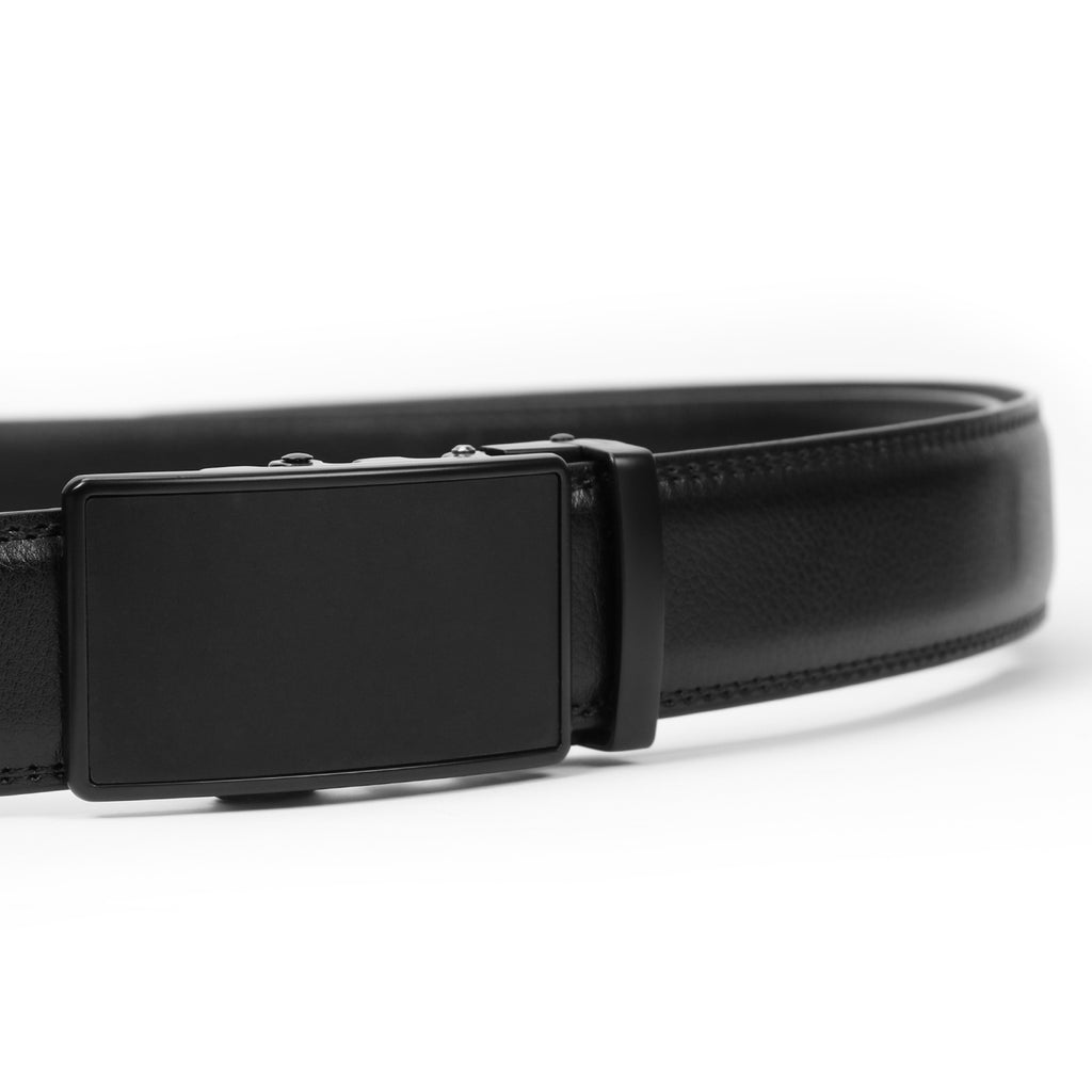 Men's Leather Ratchet Dress Belt with Automatic Buckle in Gift Box by JASGOOD-JASGOOD OFFICIAL
