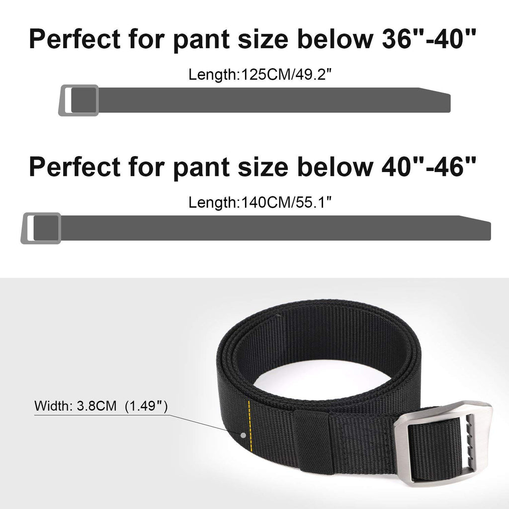 Survival Military Canvas Nylon Belts For Men Tactical Outdoor Belt with Metal Buckle by JASGOOD - JASGOOD-OFFICIAL