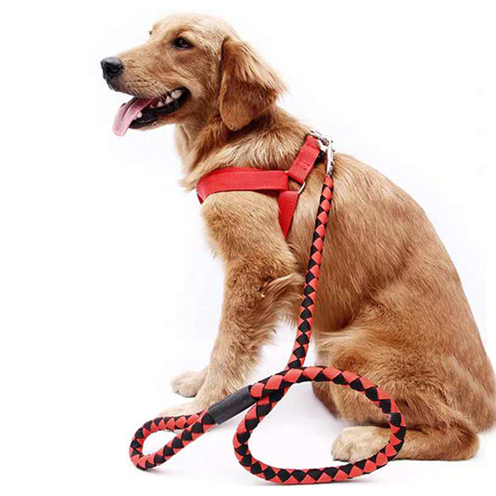 Nylon Braided Heavy Duty Dog Training Leash for Large and Medium Dogs Walking Leads