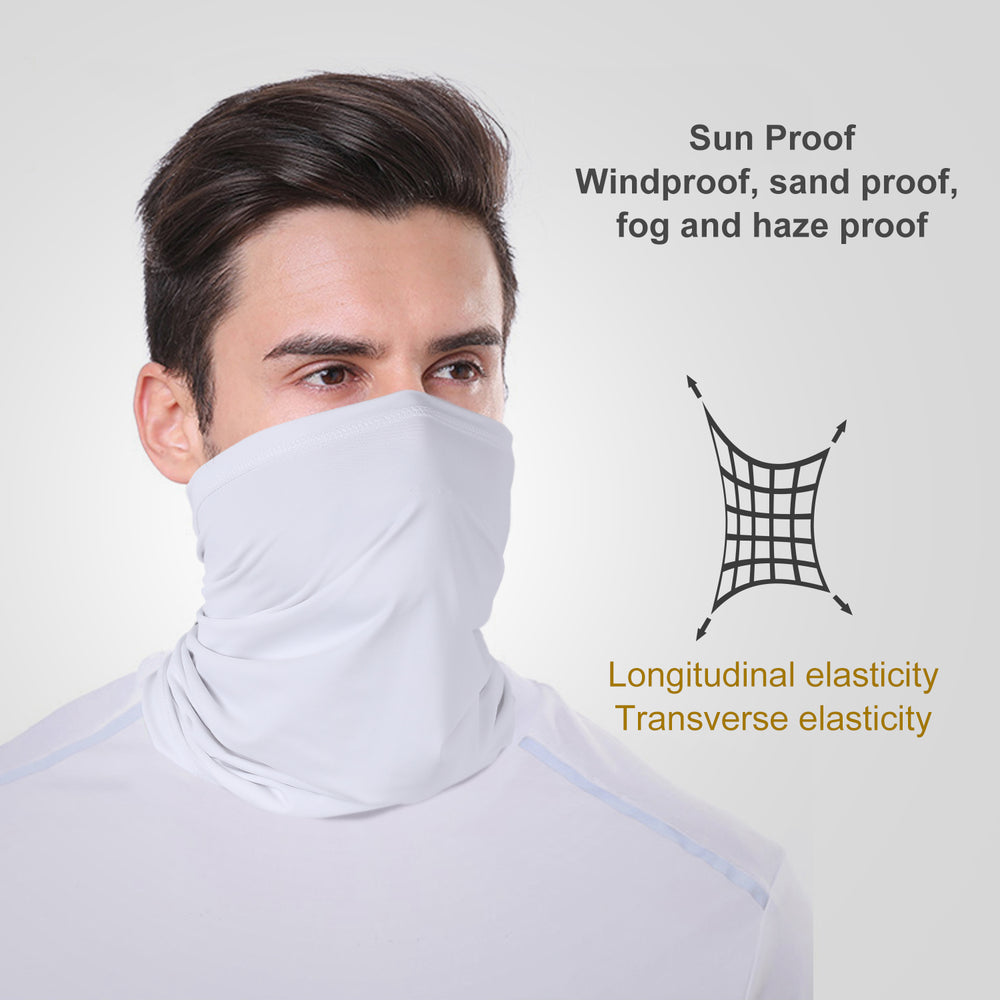 Sun UV Protection Neck Gaiter Face Mask Washable Reusable Face Cover Scarf Dust Wind Bandana Balaclava for Fishing Hiking