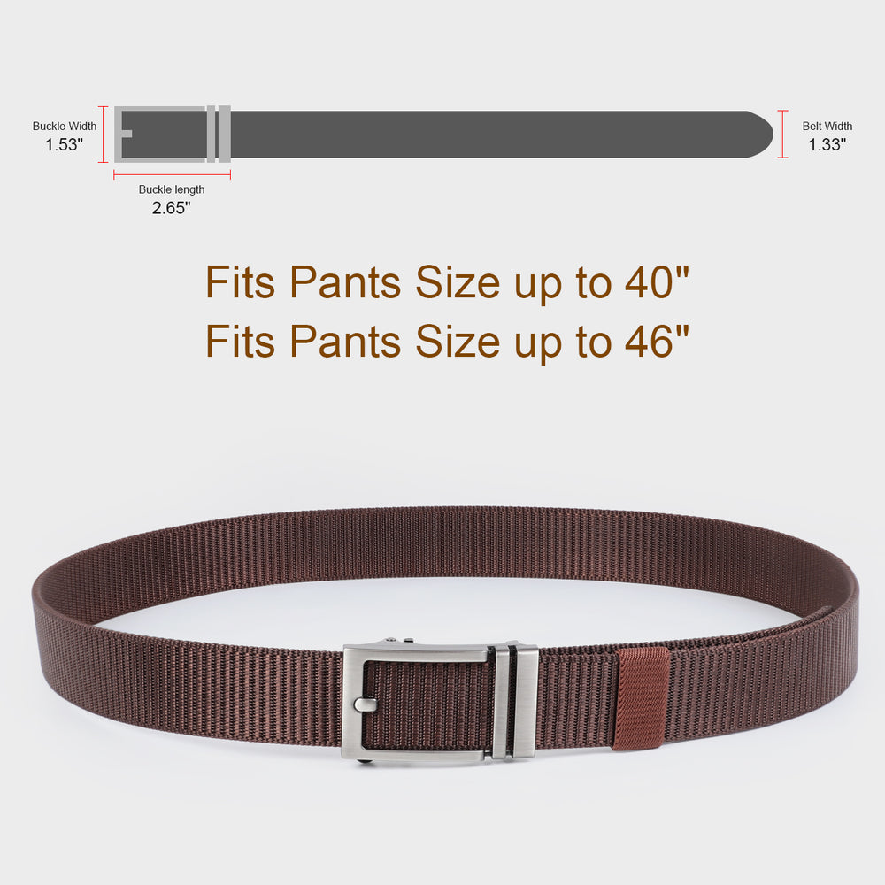 JASGOOD Nylon Belts with Automatic Buckle-Ratchet Belt-No Holes Web Belt for Men-JASGOOD OFFICIAL