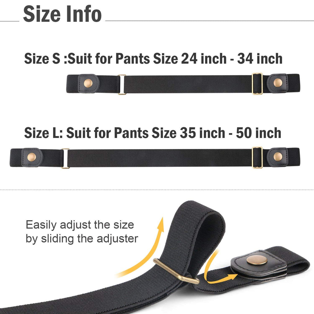 Buckle Free Women Stretch Belt Plus Size No Buckle/Show Invisible Belt for Jeans Pants Dresses - JASGOOD-OFFICIAL