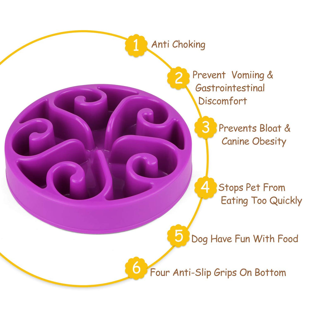 Slow Feeder Dog Bowl New Arriving Fun Feeder Slow Feeding Interactive Bloat Stop Dog Bowls by JASGOOD