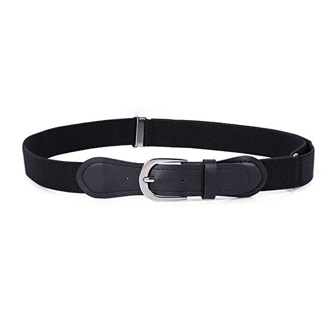 JASGOOD Kids Elastic Adjustable Belts, Stretch Belts for Boys and Girls with Leather Closure-JASGOOD OFFICIAL