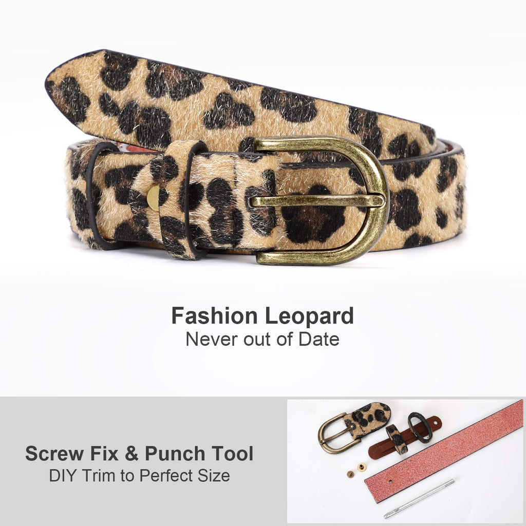 Leopard Print Leather Belt for Women Jeans Pants Waist Belt for Dresses - JASGOOD-OFFICIAL
