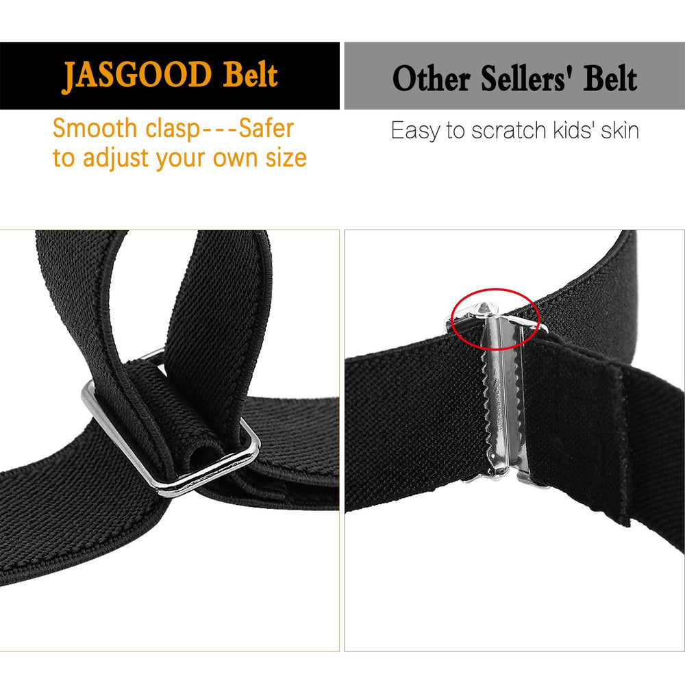 JASGOOD Kids Adjustable Magnetic Belt Boys Girls Elastic Belt with Easy Magnetic Buckle Fit Pant Size16-26Inch - JASGOOD-OFFICIAL