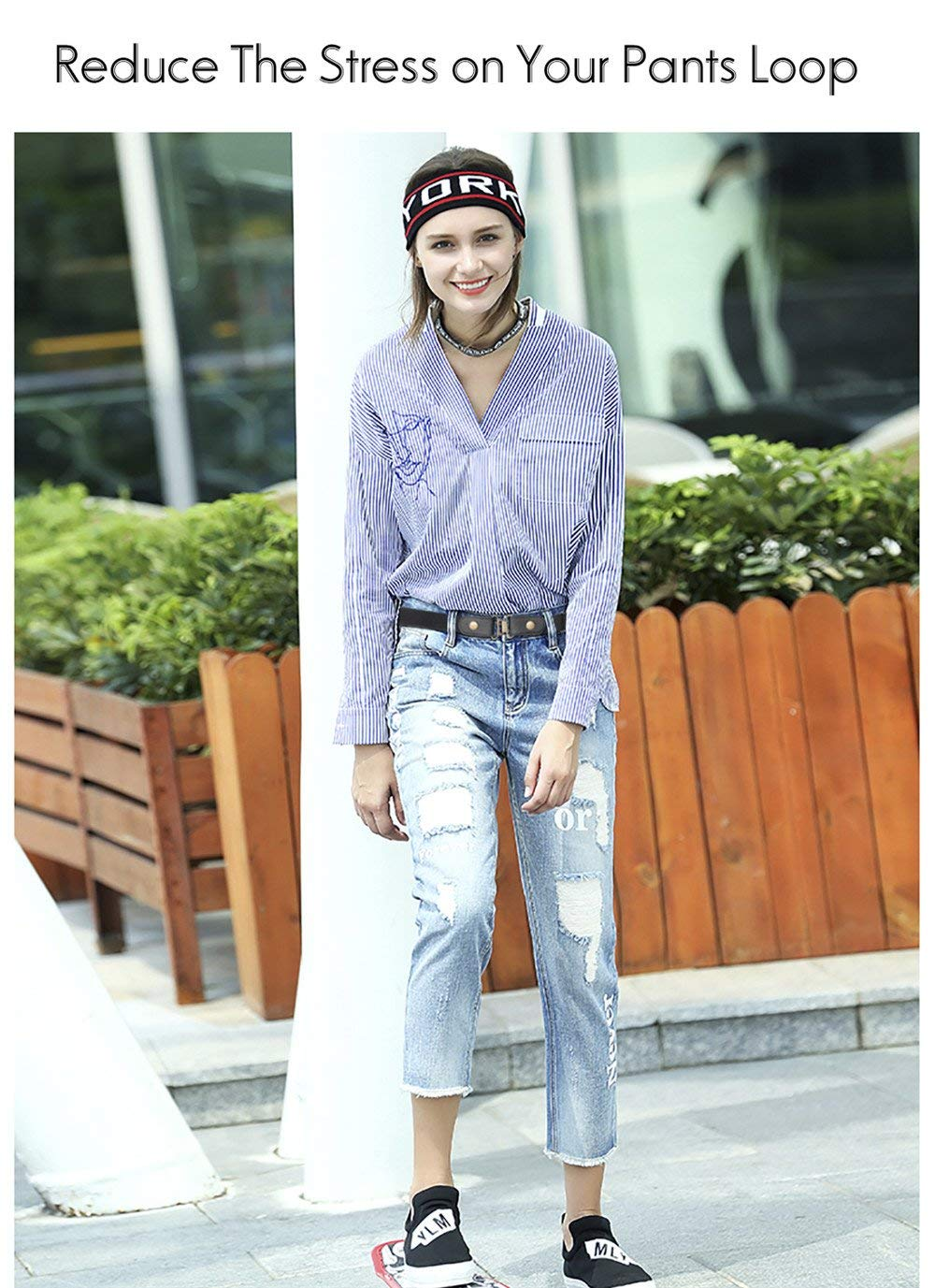 No Buckle Invisible Belt For Women Elastic Waist Belt for Jeans Pants Dresses