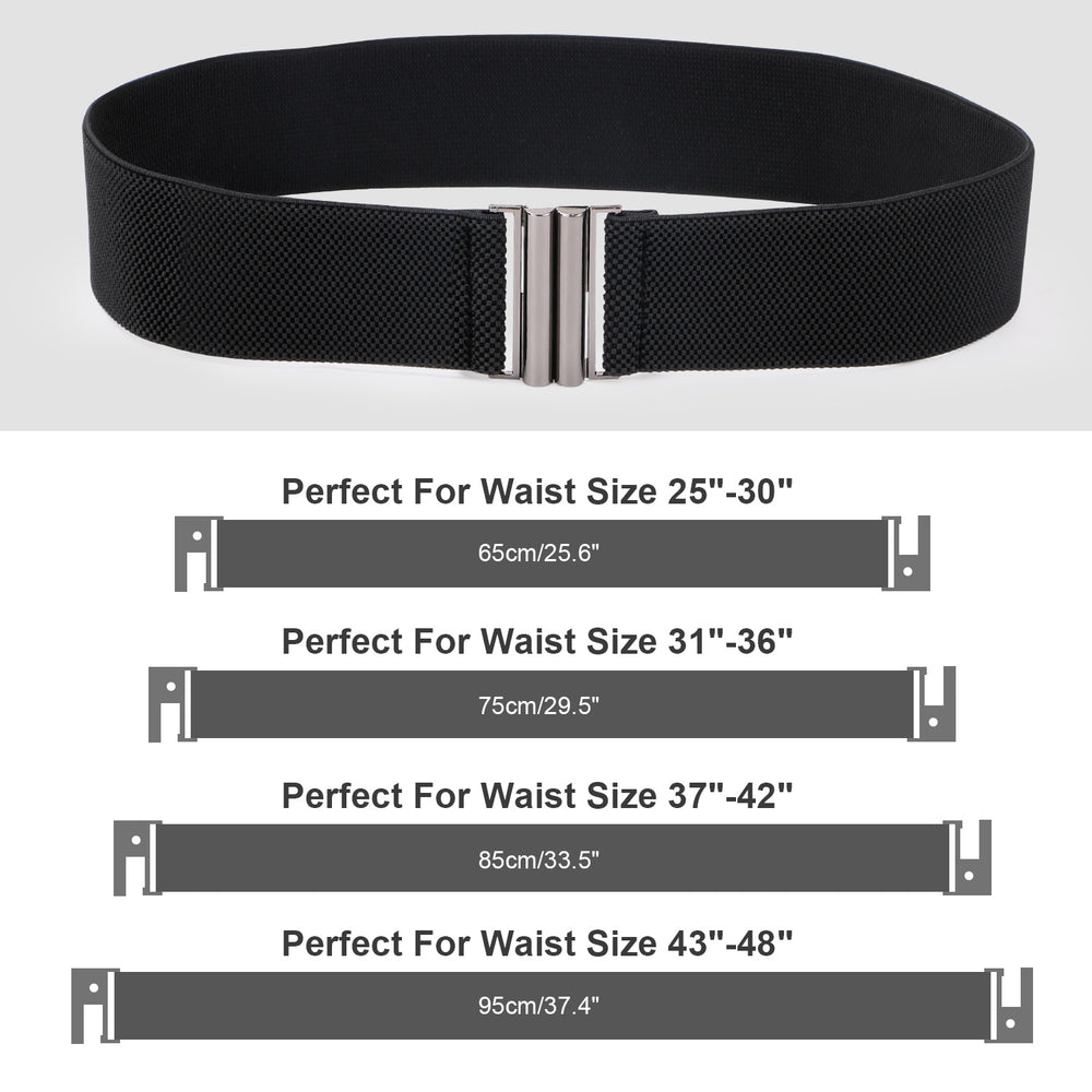 High Waist Elastic Stretchy Belt - JASGOOD 2018 New Design Mid Cinch Retro Dress Waist Belt For Women.