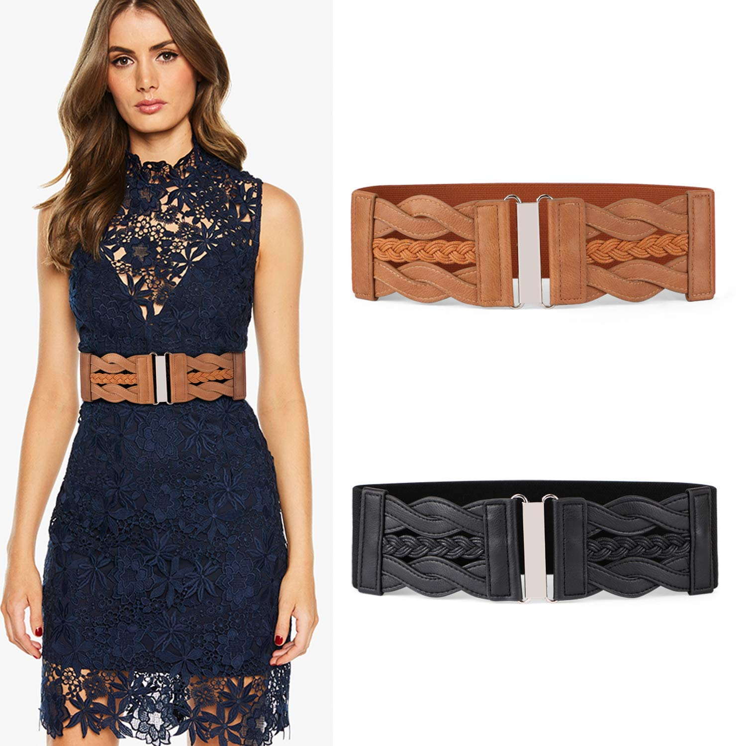 Fashion style Belt cinch how to wear for lady
