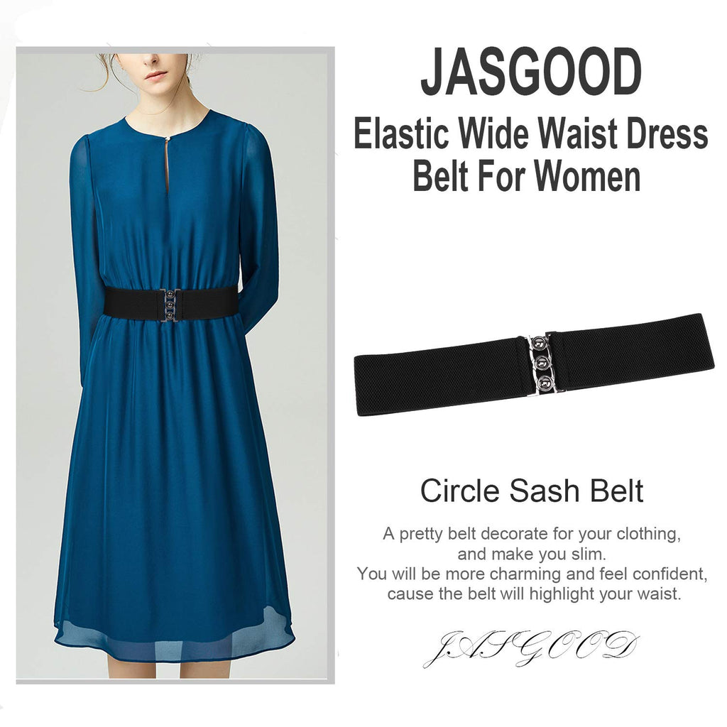 JASGOOD Vintage Wide Elastic Waist Belt Waistband Dress Stretchy Cinch Belt For Women 1.8 Inch Wide - JASGOOD-OFFICIAL